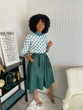 Load image into Gallery viewer, Green polka dot two piece set - Modestapparels
