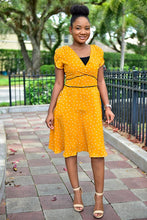 Load image into Gallery viewer, Heart Mustard dress - Modestapparels