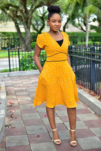 Load image into Gallery viewer, Heart Mustard dress