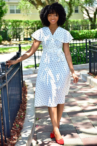 Polka Dot too Dress - Modestapparels