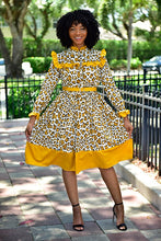 Load image into Gallery viewer, Mustard Leopard dress