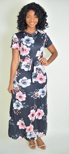 Flower bomb Dress - Modestapparels