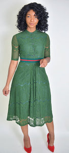 Green Dress - Modestapparels