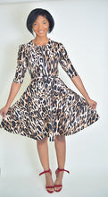 Load image into Gallery viewer, Leopard Belt Dress