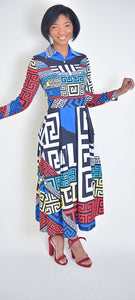 Geometric Dress - Modestapparels