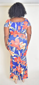 Floral plus size dress - Modestapparels