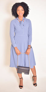 Tabitha Bowtie Dress - Modestapparels