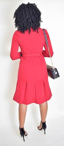 Zilpah Red Dress (fit tight at the Hips ) - Modestapparels