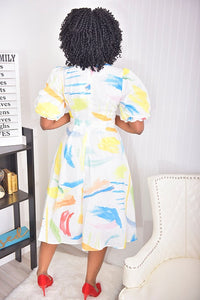 Puff color Dress