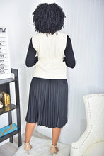 Load image into Gallery viewer, 3 Piece set ( black top and skirt, nude jacket) - Modestapparels