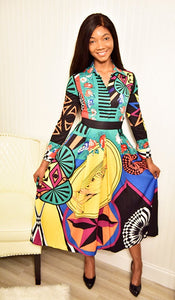 Multi color Dress - Modestapparels