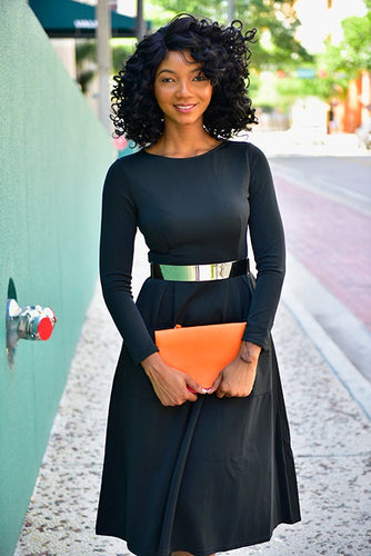 Black Modest Dress
