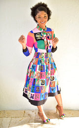 Living in Color Bowtie Dress - Modestapparels