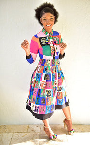 Living in Color Bowtie Dress