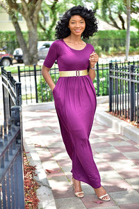 Purple Rain Dress - Modestapparels
