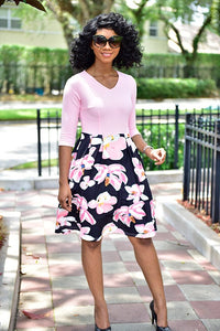 Pink lover Dress - Modestapparels