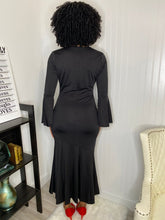 Load image into Gallery viewer, Black vesper dress