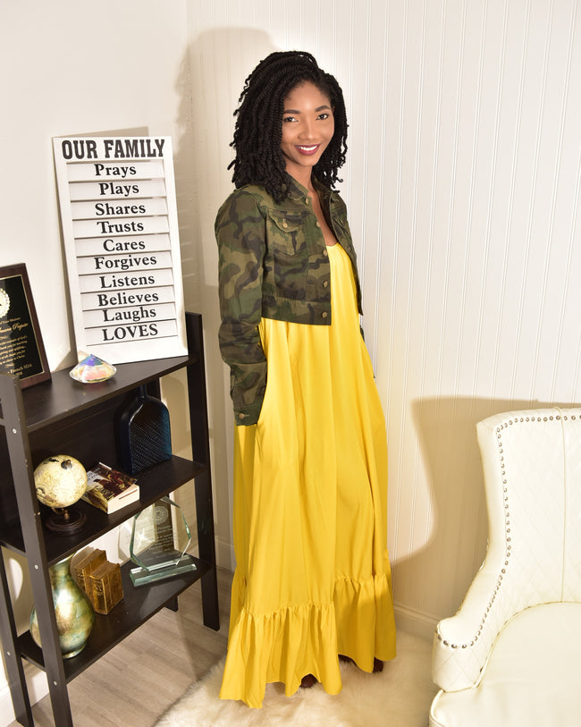 Yellow Sunny Dress - Modestapparels