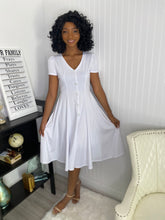Load image into Gallery viewer, White dress - Modestapparels