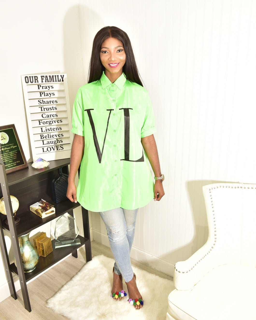 Neon green top - Modestapparels