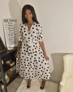 Polka dot dress 2 - Modestapparels