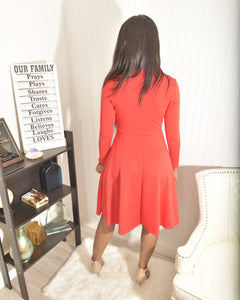 Red dress - Modestapparels