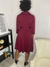 Load image into Gallery viewer, Burgundy dress - Modestapparels