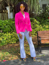 Load image into Gallery viewer, High quality neon pink blazer