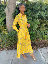 Load image into Gallery viewer, Yellow flower bomb Dress - Modestapparels