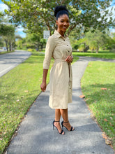 Load image into Gallery viewer, Button down Khaki Dress - Modestapparels