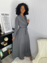 Load image into Gallery viewer, Grey maxi dress - Modestapparels
