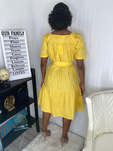 Yellow advent dress