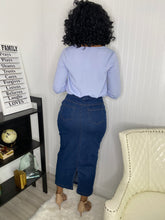 Load image into Gallery viewer, Slight stretch jean skirt - Modestapparels