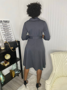 Charcoal grey dress - Modestapparels
