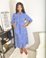 Blue Dot dress - Modestapparels