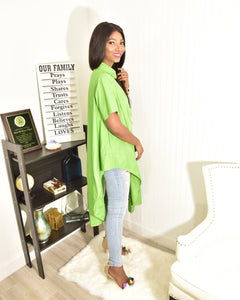 Green flow  top - Modestapparels