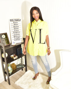 Neon yellow top - Modestapparels