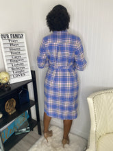 Load image into Gallery viewer, Plaid shirt dress  2