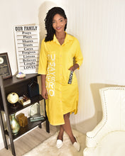 Load image into Gallery viewer, Yes or No yellow shirt Dress - Modestapparels
