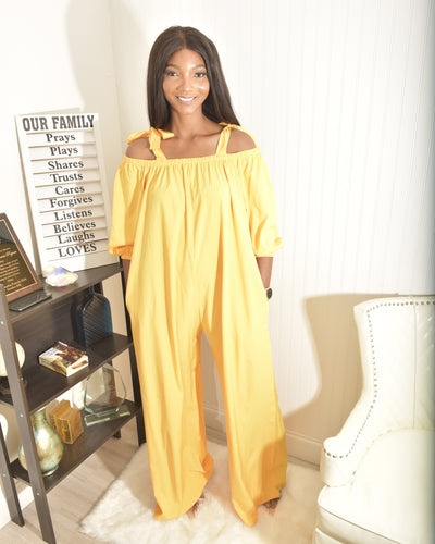 Modest yellow  jumpsuit - Modestapparels