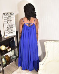 Royal Blue Sunny Dress - Modestapparels