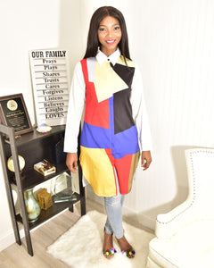 Color block shirt top - Modestapparels