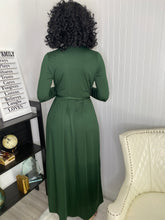 Load image into Gallery viewer, Green maxi dress