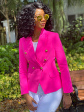Load image into Gallery viewer, High quality neon pink blazer - Modestapparels