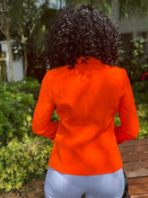 Load image into Gallery viewer, High quality neon orange blazer