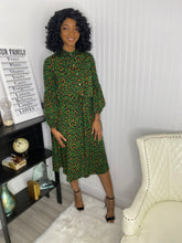 Load image into Gallery viewer, Green Leopard dress