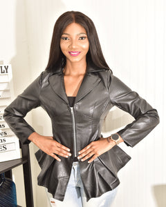 Black leather jacket - Modestapparels