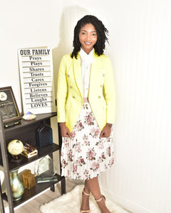 High quality neon yellow blazer - Modestapparels