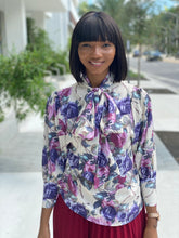 Load image into Gallery viewer, Blossom bow tie blouse
