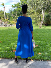 Load image into Gallery viewer, Royal Blue pew Dress - Modestapparels